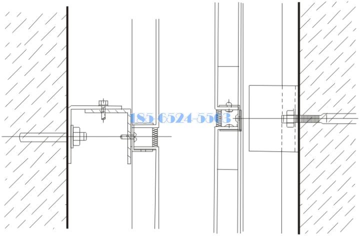鋁單板用化學螺栓固定的安裝節點
