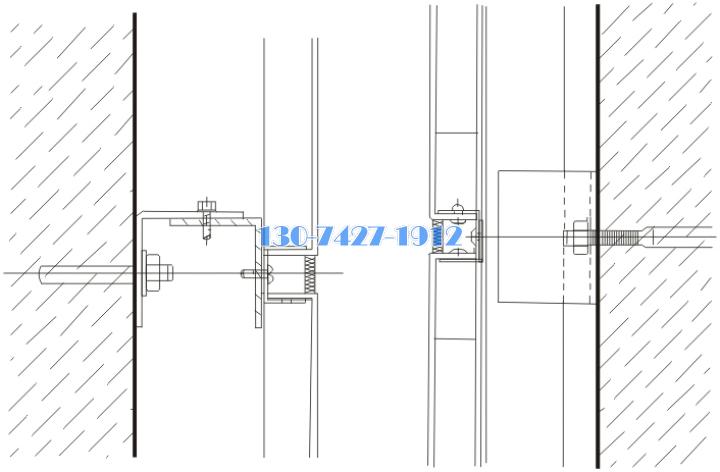 铝单板用化学螺栓固定的安装节点