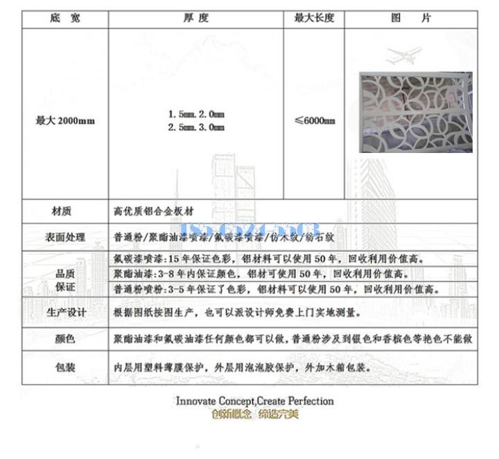 雕花铝板行业标准
