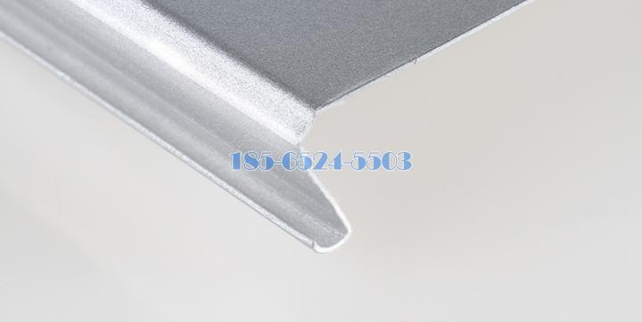 亮银色C型矮边斜角15mm折边铝条扣