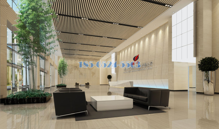 中國化學工程第七分公司大廳吊頂鋁方通