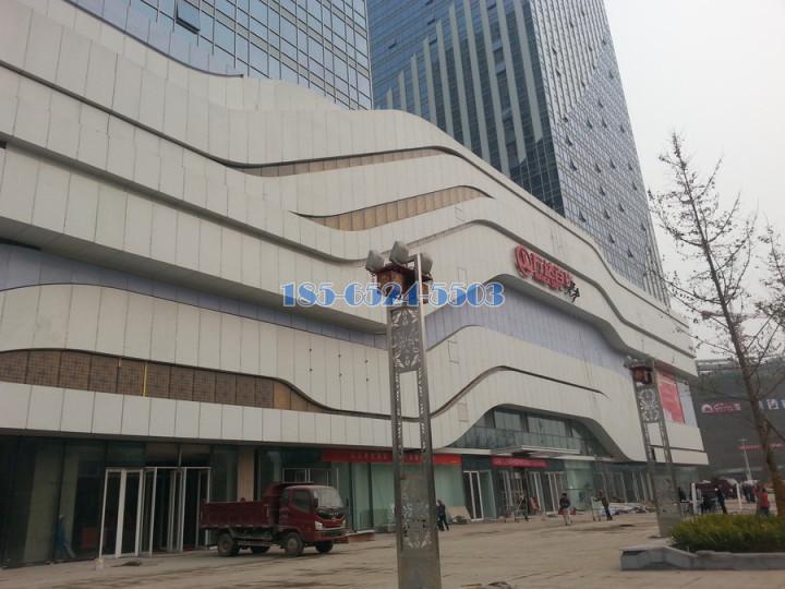 广场外用多层铝单板结构装饰