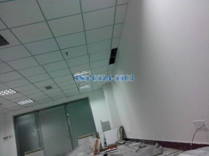 办公区域安装跌级铝板