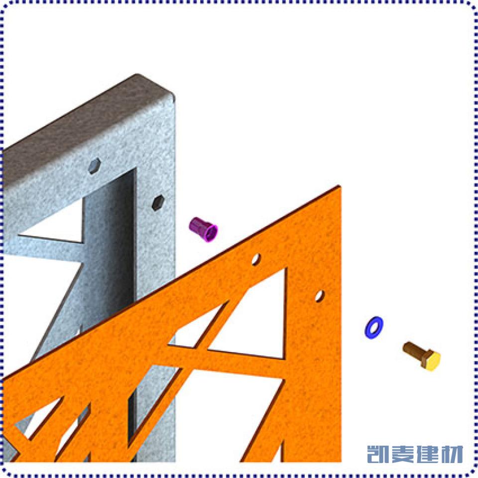 将铝板用螺丝锁定在底架上