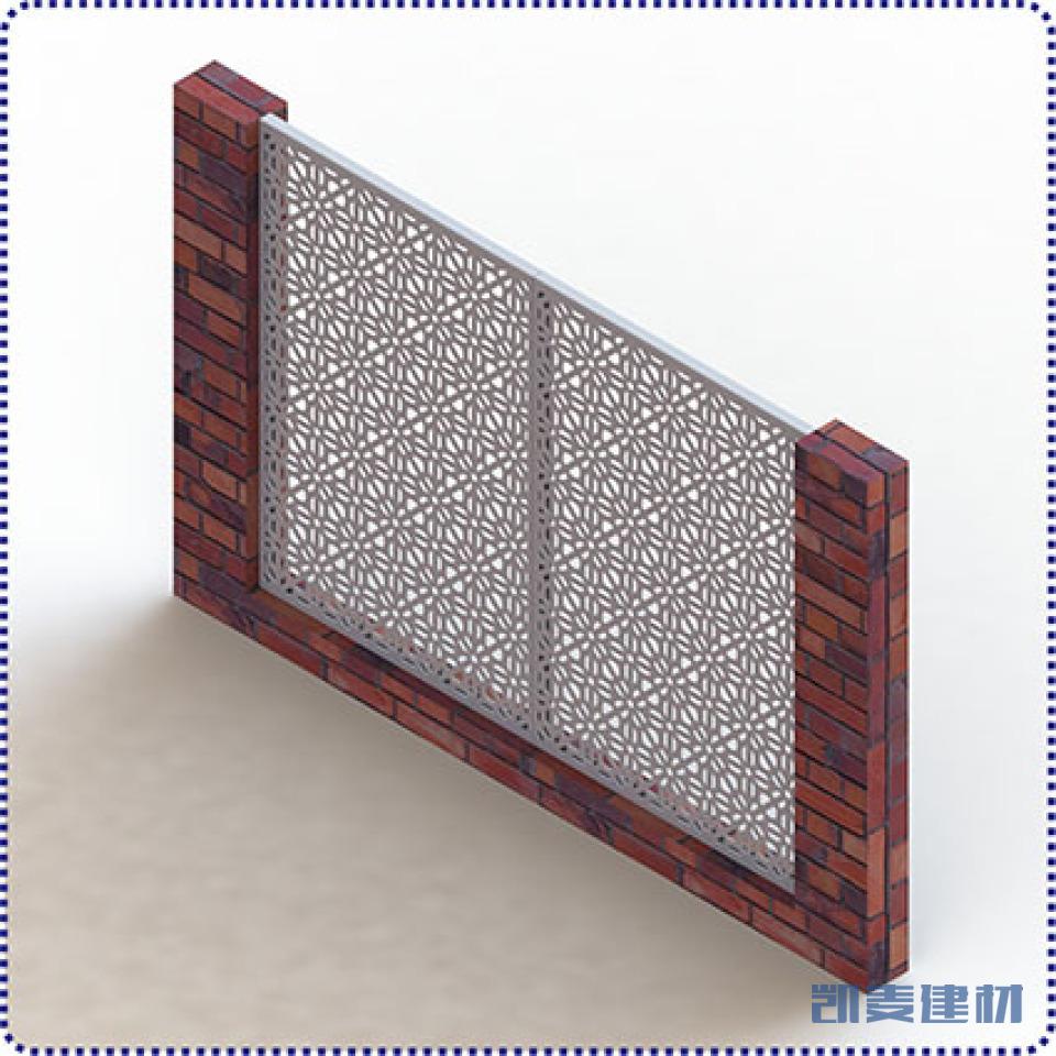墙体安装铝合金窗花