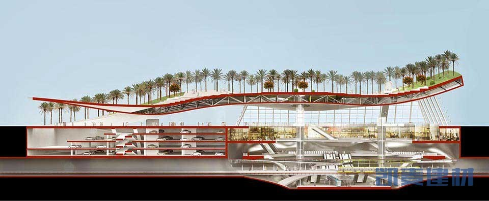 天面绿洲,顶层装饰结构铝单板