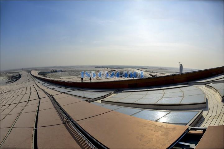 大興機場雙曲鋁單板天面視覺